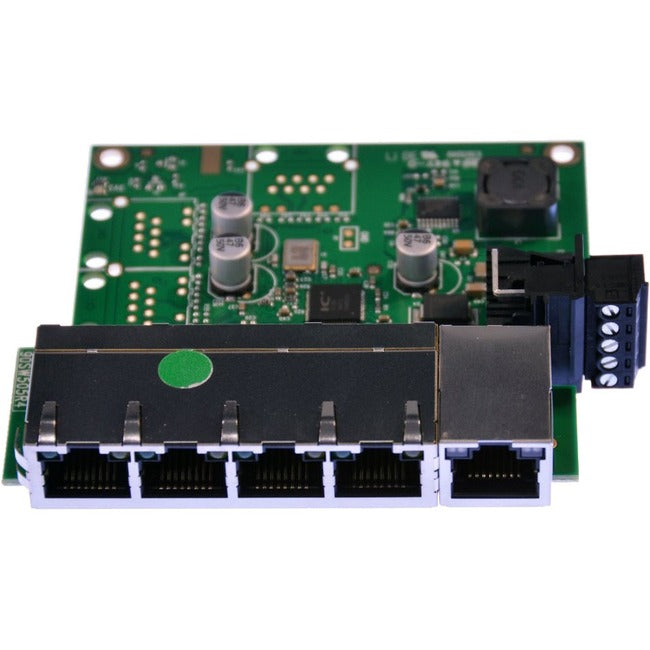 Brainboxes Embedded 5Port Ethernet Switch Temperature Range Of -40F To +176F (SW-105)