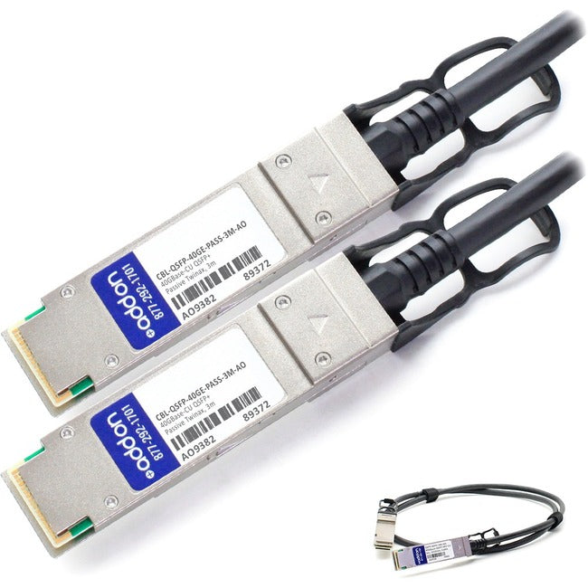 Axiom 40Gbase-Cr4 Qsfp+ Passive Dac Cable Force 10 Compatible 3M