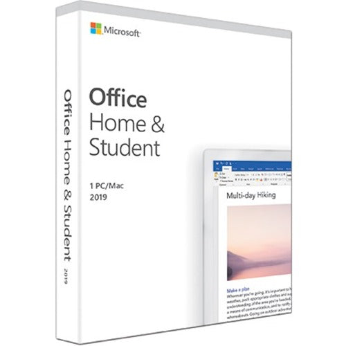 Microsoft Office 2019 Home & Student - Box Pack - 1 PC/Mac - NA/PR/TT Only Medialess (79G-05029)