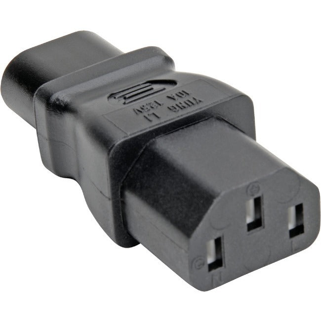 Tripp Lite IEC C8 to C13 Power Cord Adapter Converter 10A 125V Black (P003-000)