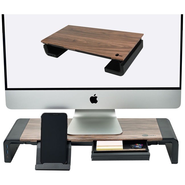 SIIG Stylish Foldable Monitor Stand with USB Hub (CE-MT2Q12-S1)