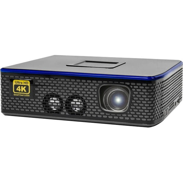 Aaxa-Projectors 4K1 Led Mini Proj 1500L 4K Uhd Hdmix2 Usb Tf Av 30K Hrs Led 1.7Kg (HP-4K1-00)