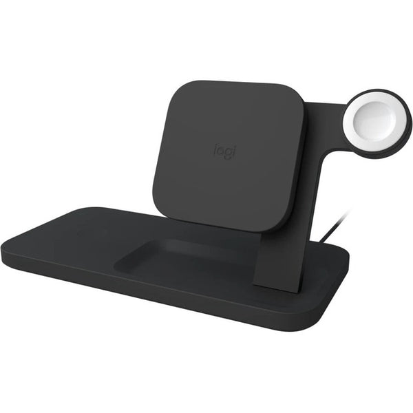 Logitech - Computer Accessories Powered Wrls Charging Dock Graphite (950-000026)