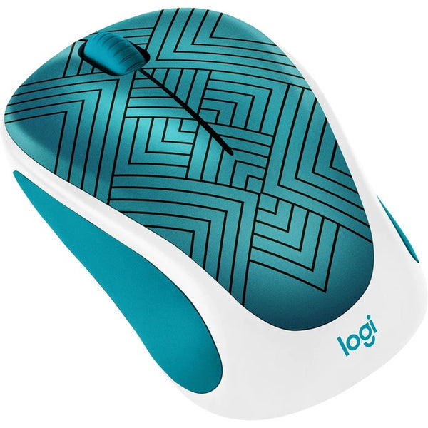 Logitech - Computer Accessories New Desgn Wrls Mouse Teal Spring Collect Wrls Mouse Teal Maze (910-005838)