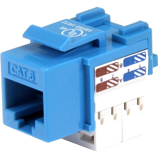 StarTech.com Cat 6 RJ45 Keystone Jack Blue - 110 Type (C6KEY110BL)