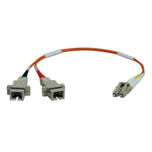 Tripp Lite 0.3M Duplex Multimode Fiber Optic 50/125 Adapter LC/SC M/F 1ft 1' 0.3 Meter (N458-001-50)