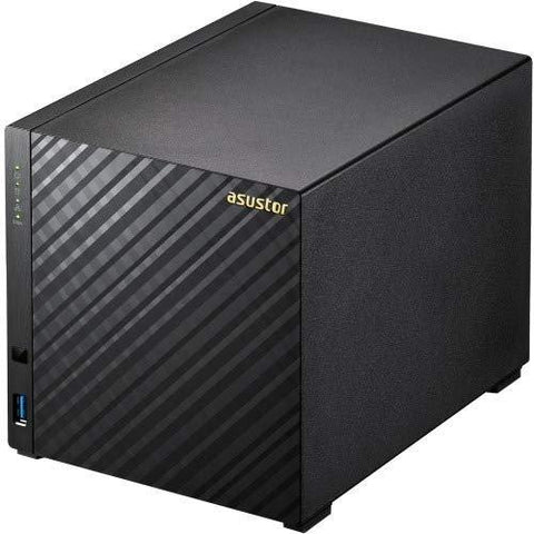 Asustor AS1004T v2, 4-Bay NAS (Diskless), Marvell Armada 1.6GHz Dual-Core, Personal Cloud NAS