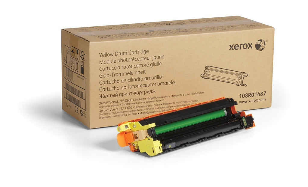 Xerox Genuine Yellow Drum Cartridge 108R01487-40 000 Pages for Use In Versalink C600/C605 Toner