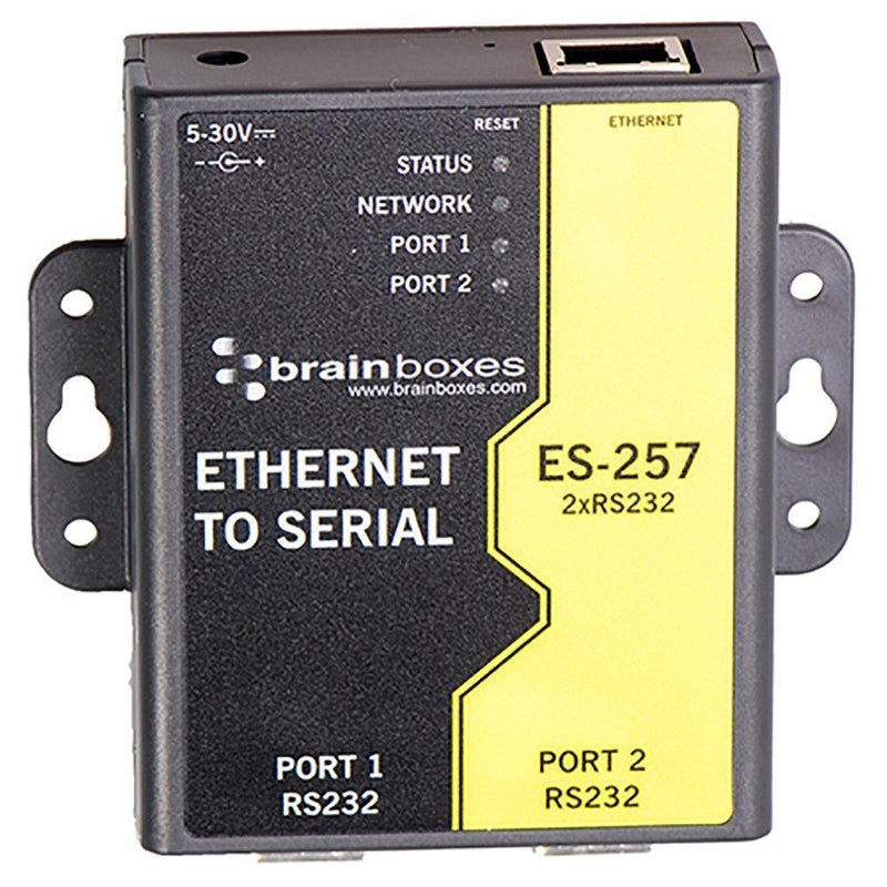Brainboxes 2 Port RS232 Ethernet to Serial Adapter (ES-257)