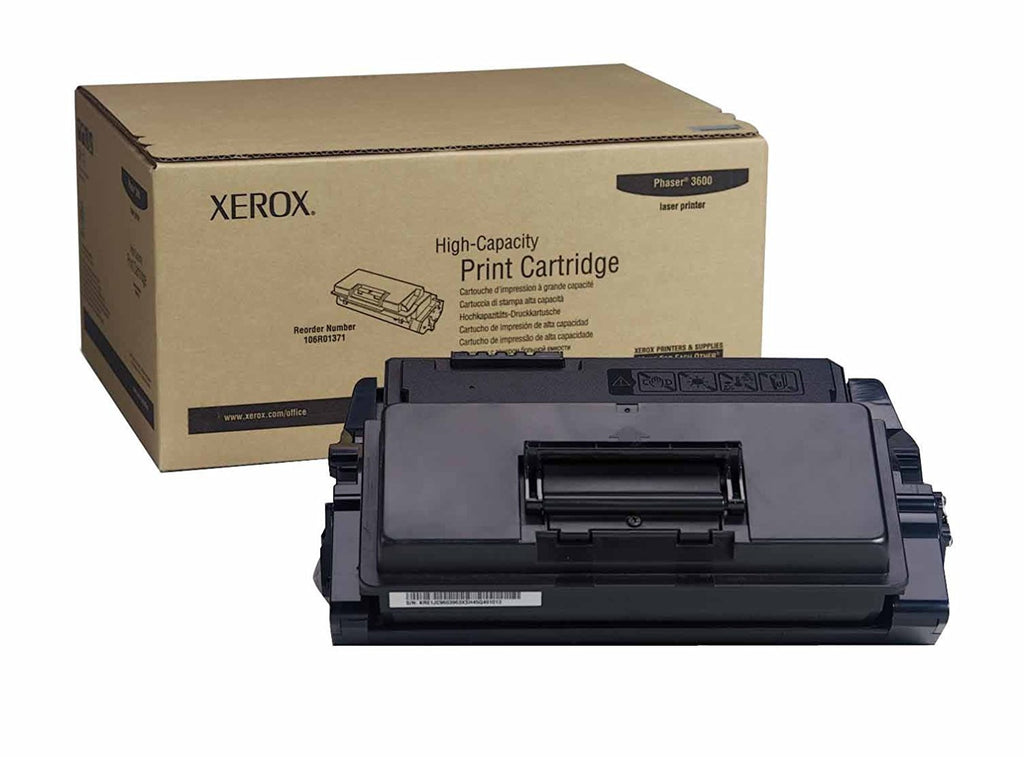 Genuine Xerox High Capacity Black Print Cartridge for the Phaser 3600, 106R01371