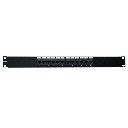 4Xem 12Port Cat5e Patch Panel 1U Rackmount 568B 110 Punchdown Rj45 (4XRMC5EPP12)