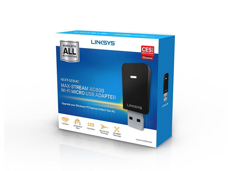 Linksys WUSB6300 IEEE 802.11ac - Wi-Fi Adapter for Desktop Computer/Notebook (WUSB6300)