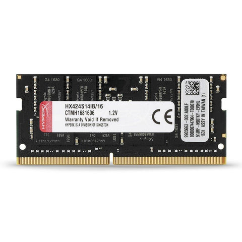 HyperX Kingston Technology Impact 16GB 2400MHz DDR4 CL14 260-Pin SODIMM Laptop Memory HX424S14IB/16