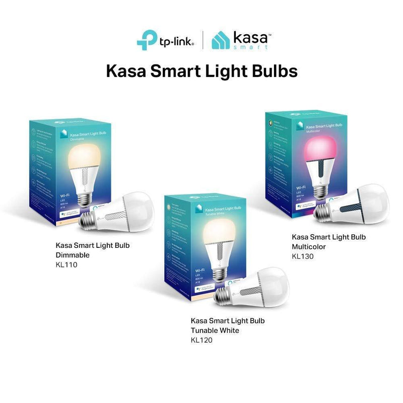 TP-LINK Kasa Smart Light Bulb, Multicolor (KL130)