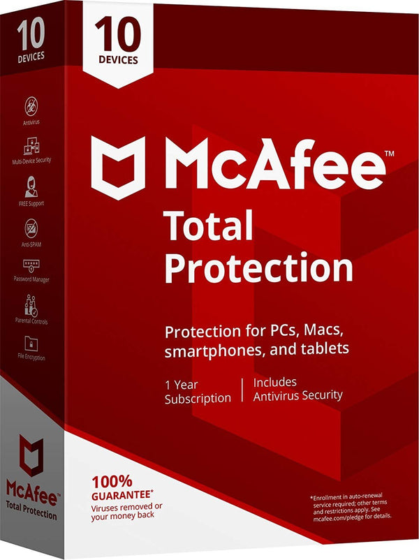 Mcafee Retail Box Total Protection 10Device  (MTP00ENRXRAA)