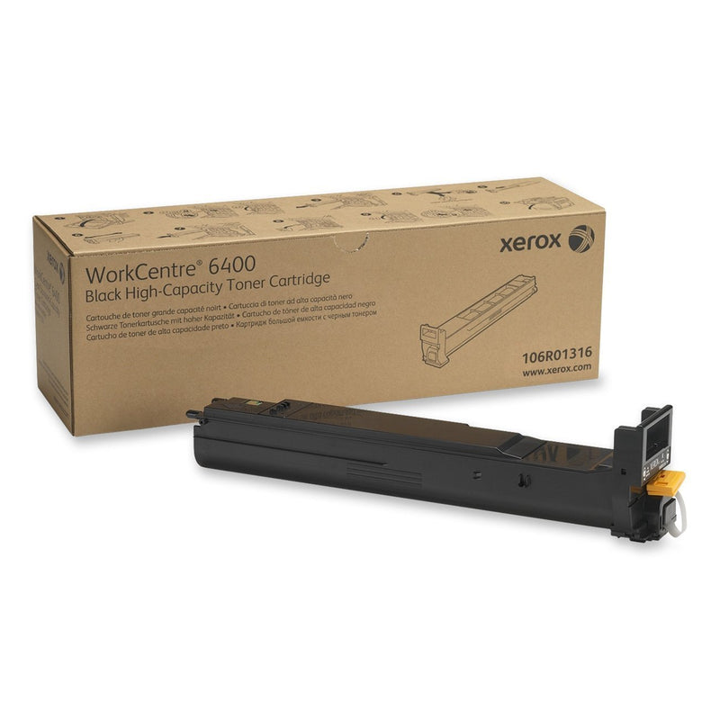 Genuine Xerox High Capacity Black Toner Cartridge for the Xerox WorkCentre 6400, 106R01316