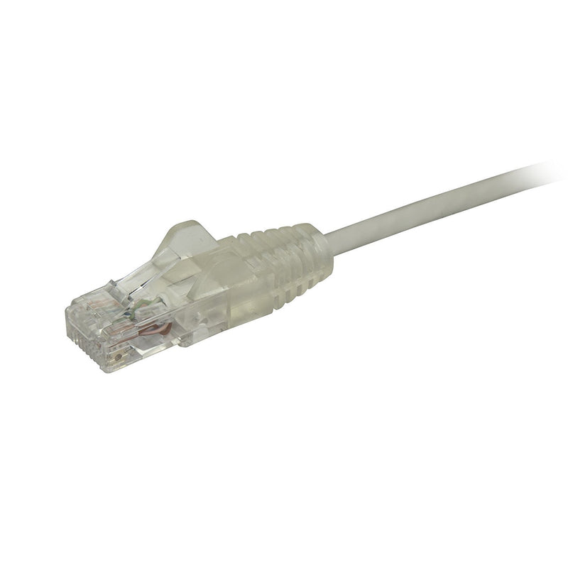 StarTech.com 10 ft CAT6 Cable - Slim CAT6 Patch Cord - Gray Snagless RJ45 Connectors - Gigabit Ethernet Cable - 28 AWG (N6PAT10GRS)