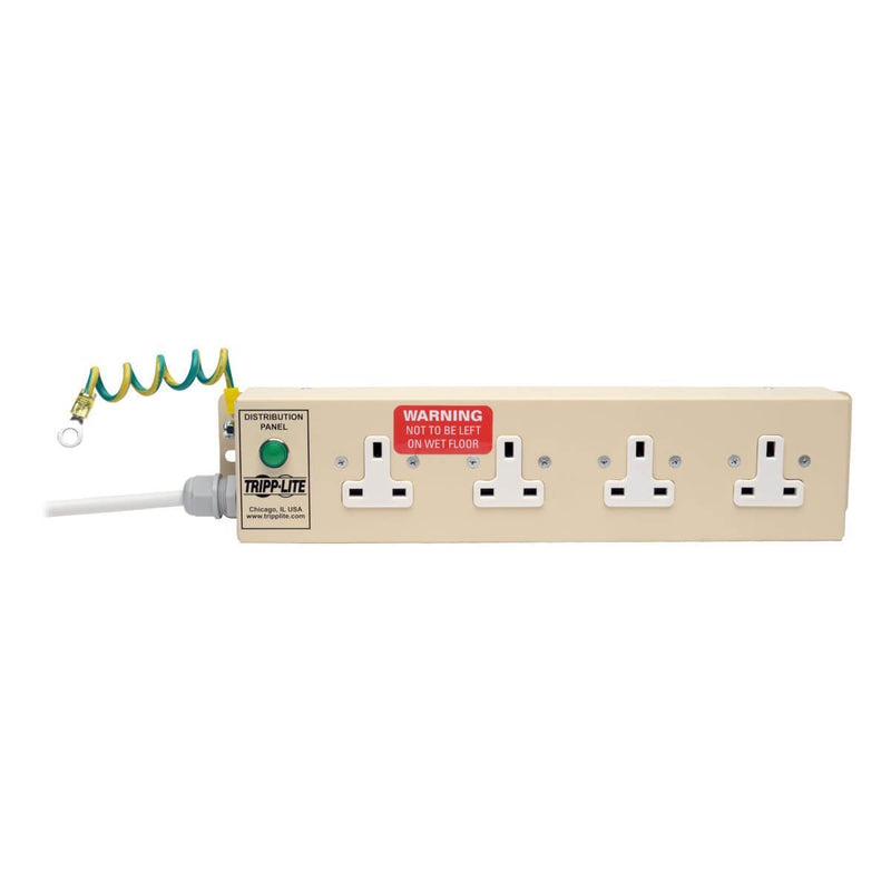 Tripp Lite UK BS-1363 Medical-Grade Power Strip with 4 UK Outlets, 3m Cord (PS410HGUK)