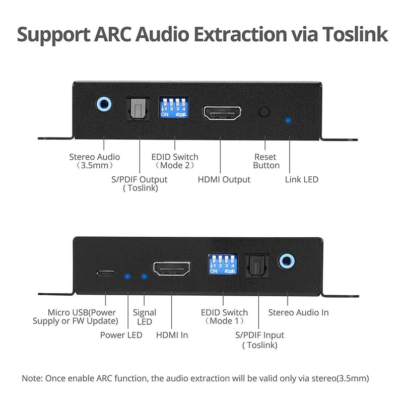 SIIG HDMI 2.0 Audio Extractor/Embedder (CE-H23M11-S1)