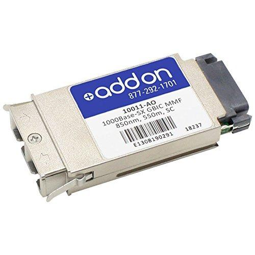 AddOn Extreme Networks 10011 Compatible TAA Compliant 1000Base-SX GBIC Transceiver (MMF, 850nm, 550m, SC)