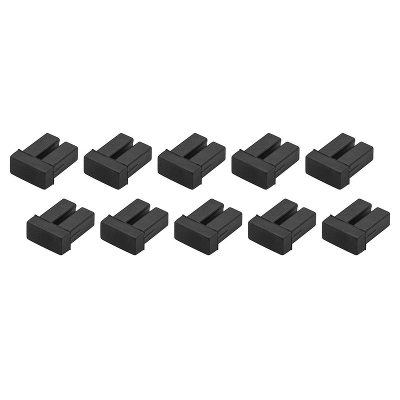 StarTech.com LC SFP Dust Covers - 10 Pack - Fiber Optic Dust Caps - SFP Port Cover (SFPLCCAP10)