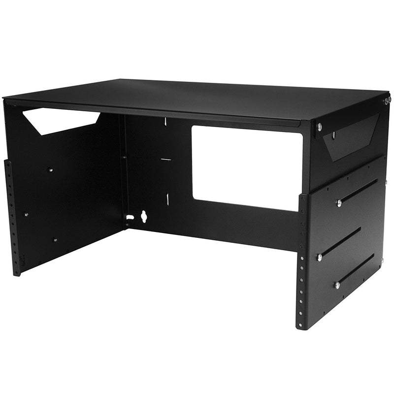 StarTech.com 4U Wallmount Server Rack with Built-in Shelf - Solid Steel - Adjustable Depth 12in to 18in (WALLSHELF4U)