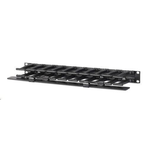 "APC by Schneider Electric Horizontal Cable Manager, 1U x 4"" Deep, Single-Sided with Cover (AR8602A)"