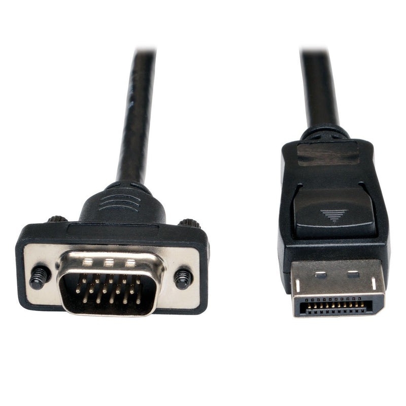Tripp Lite 10ft DisplayPort to VGA Cable / DP to VGA Adpater Latches to HD15 M/M (P581-010-VGA)