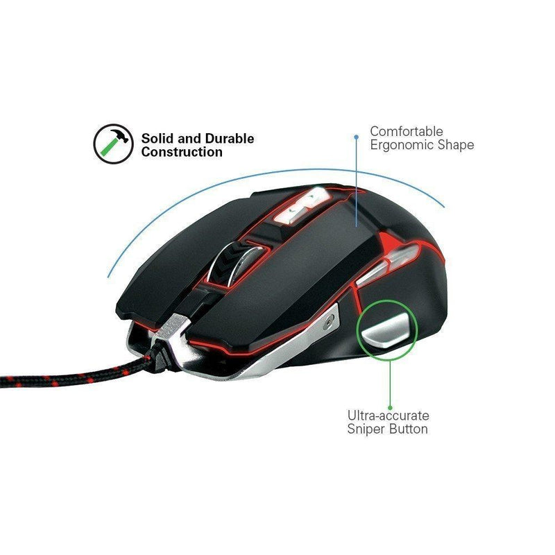 Riotoro Inc Rgb Mouse 10K Dpi Optical White  (MR-800XPW)