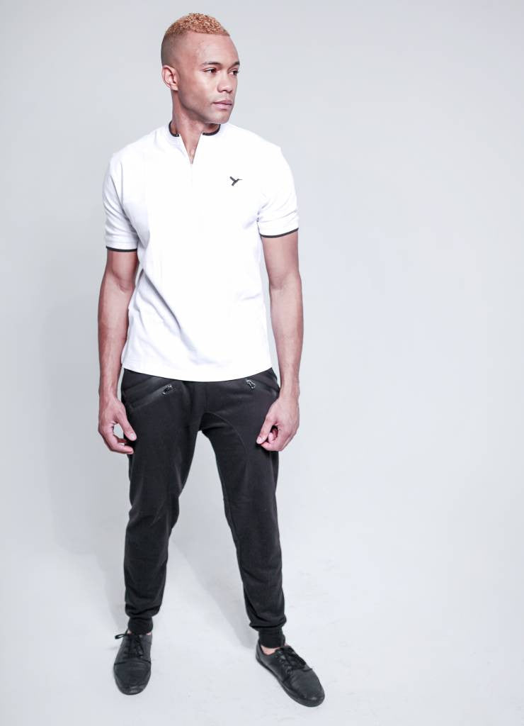 Bria & Co. Alpine Zip Neck Henley Polo