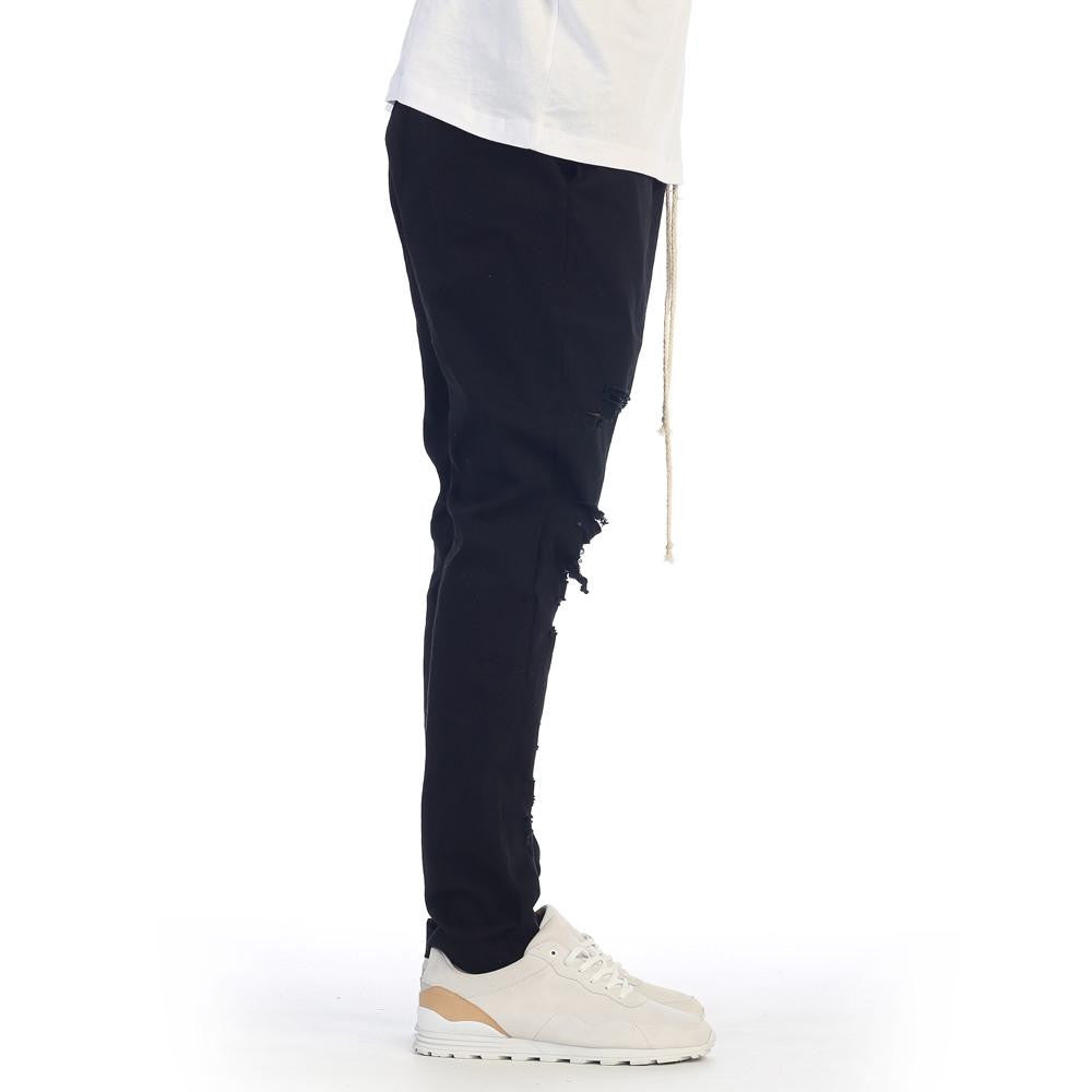 eptm black thrasher distressed pants drawstring skater