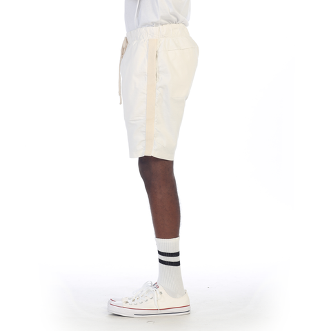 eptm side tape stripe drawstring track basketball shorts white