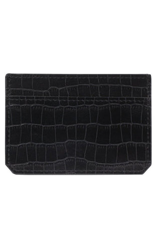 vegan faux leather crocodile alligator wallet card holder men's