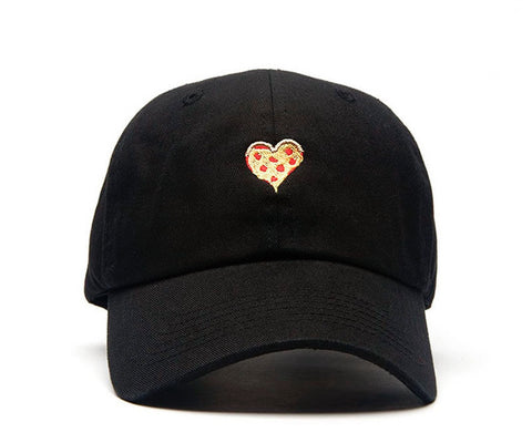 pizza heart love dad hat strap back meme