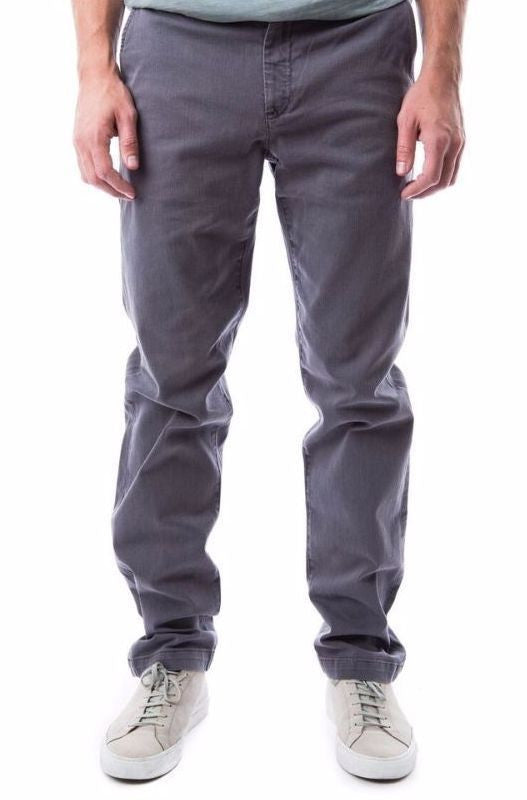 kennington steel grey gray silver charcoal chino twill khaki trousers pants relaxed fit
