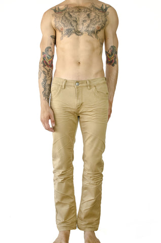 hybrid sweat pants sweatpants whisker stretch denim jeans relaxed fit yellow mustard gold