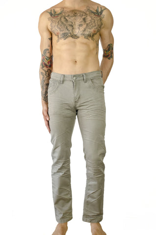 hybrid sweat pants sweatpants whisker stretch denim jeans relaxed fit silver grey gray steel