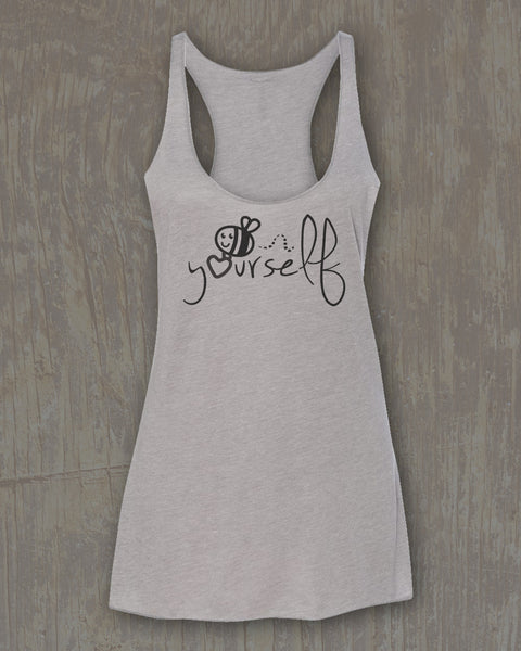 """Bee Yourself"" Spandex Racerback Tank"