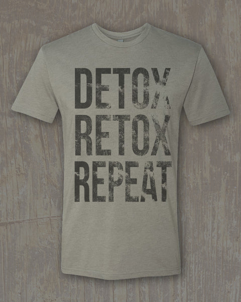 """Detox Retox"" Graphic Premium Fitted Tee"