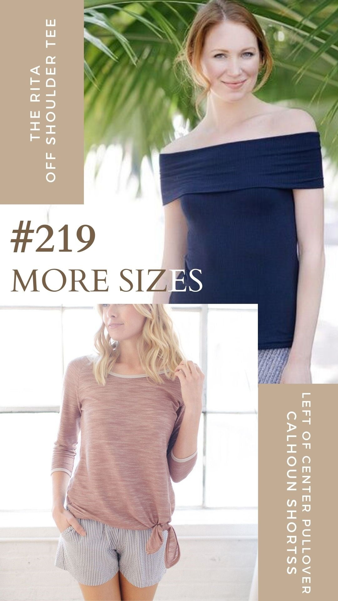 KOKOON Thrift Group #219 More Sizes Blush Sweatshirt and Calhoun Shorts and Navy Rita Tee