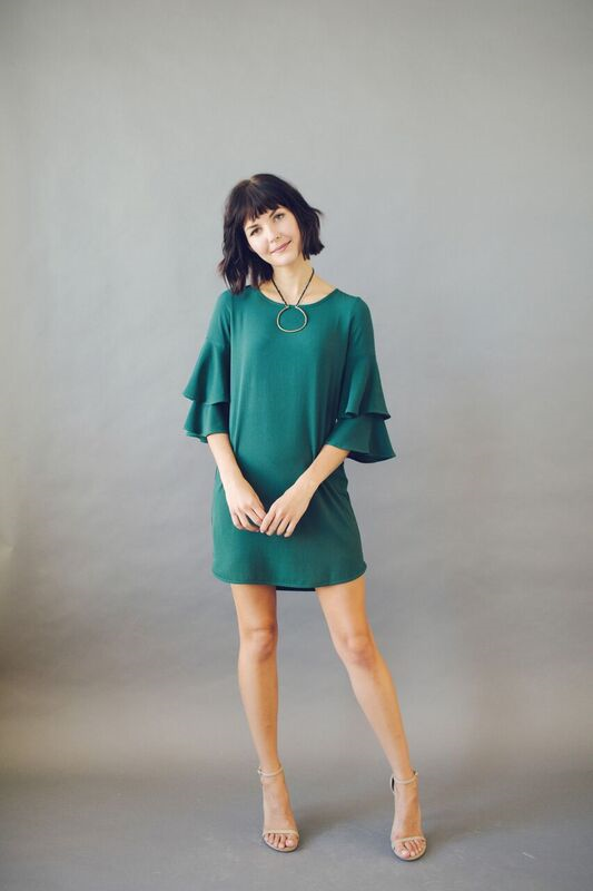 KOKOON Double Dutch Dress Spruce Green