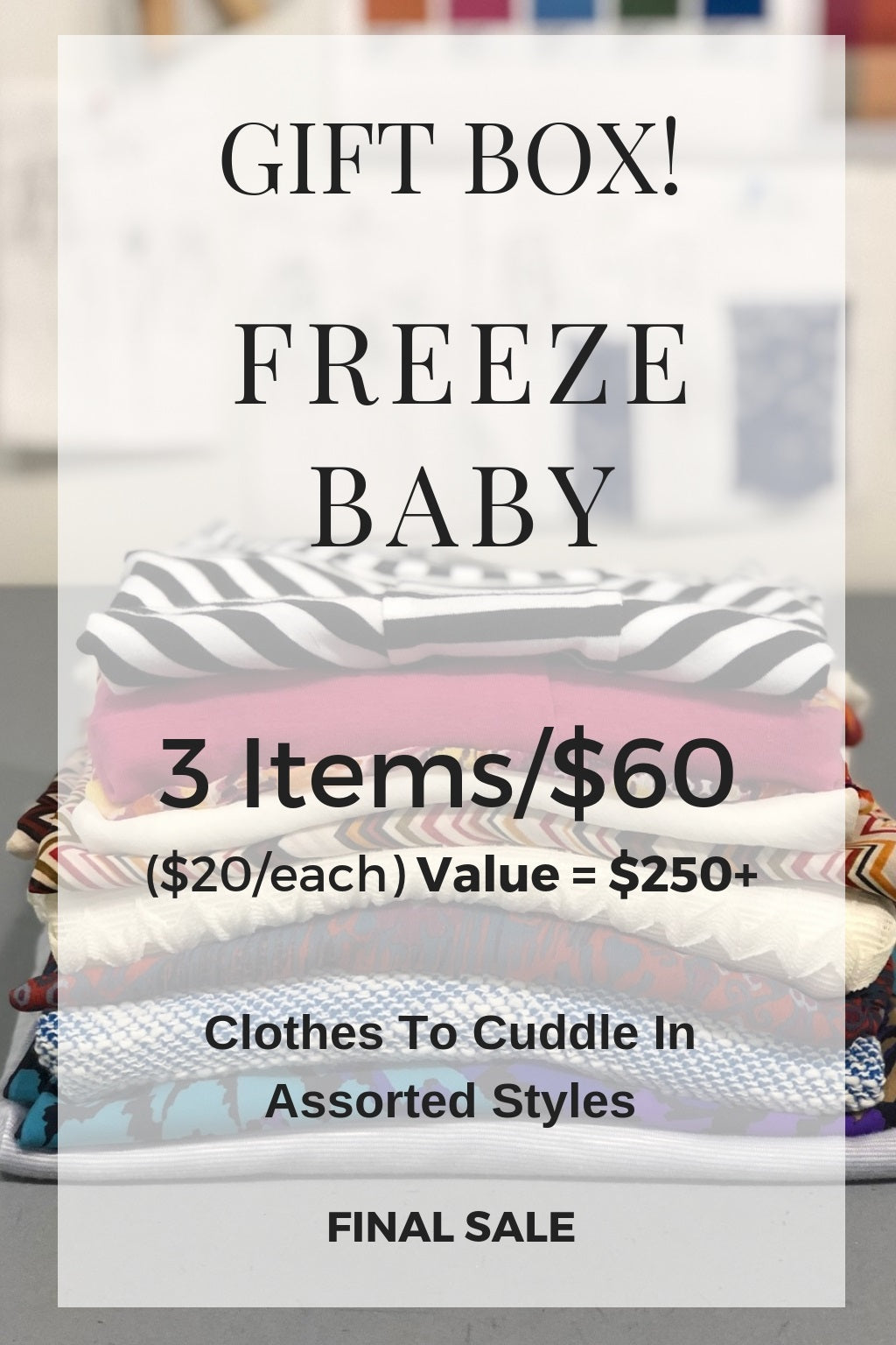 KOKOON Box Sale Freeze Baby 3 Items