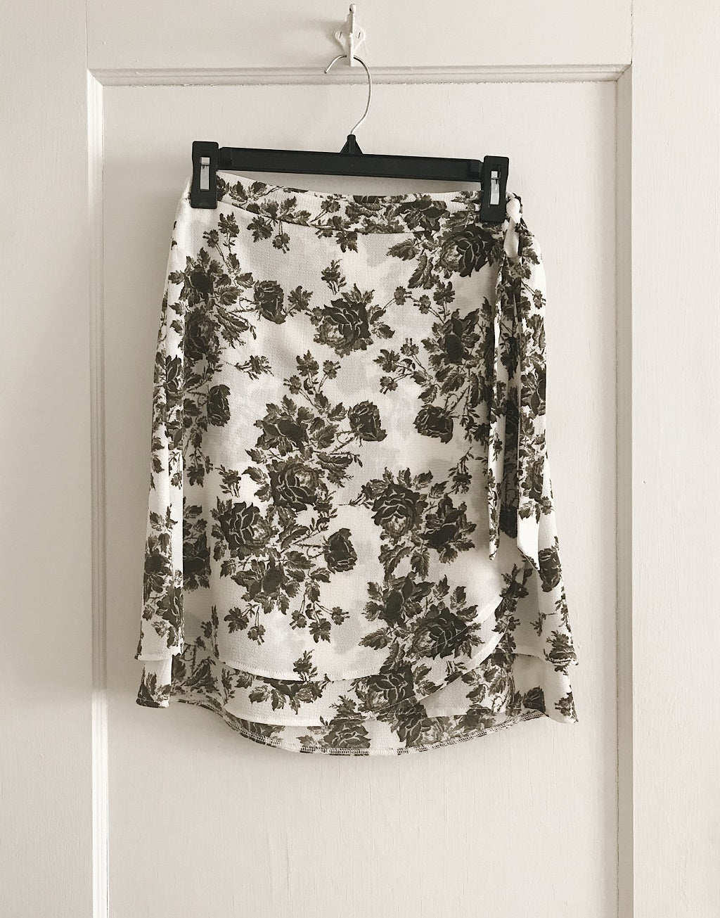 KOKOON Double Vision Wrap Skirt in Olive Rose