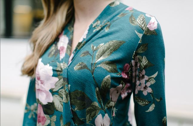 KOKOON Wrapsody Long Sleeve Blouse Closeup