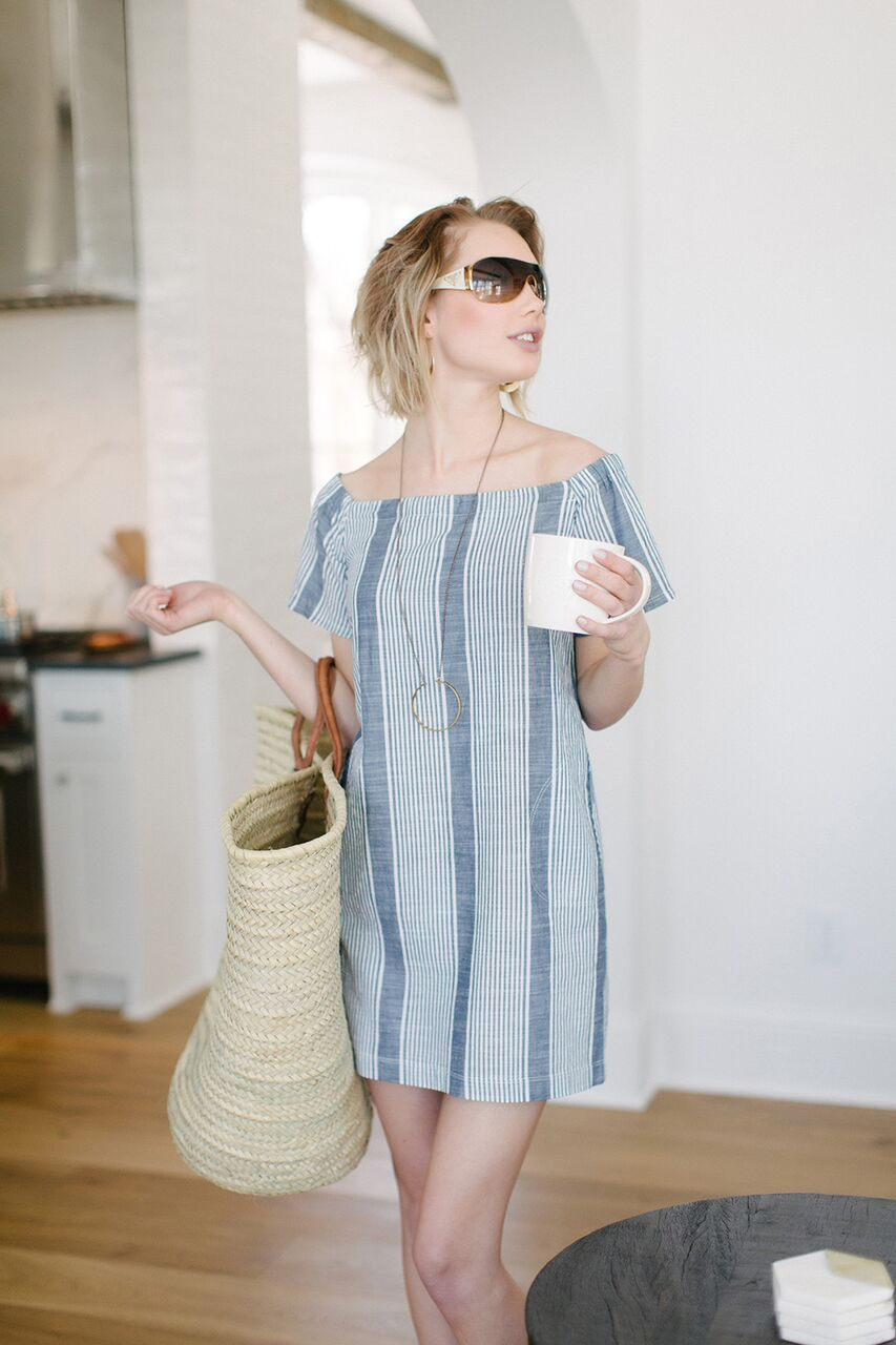 KOKOON Lawn Bowling Off Shoulder Dress 1