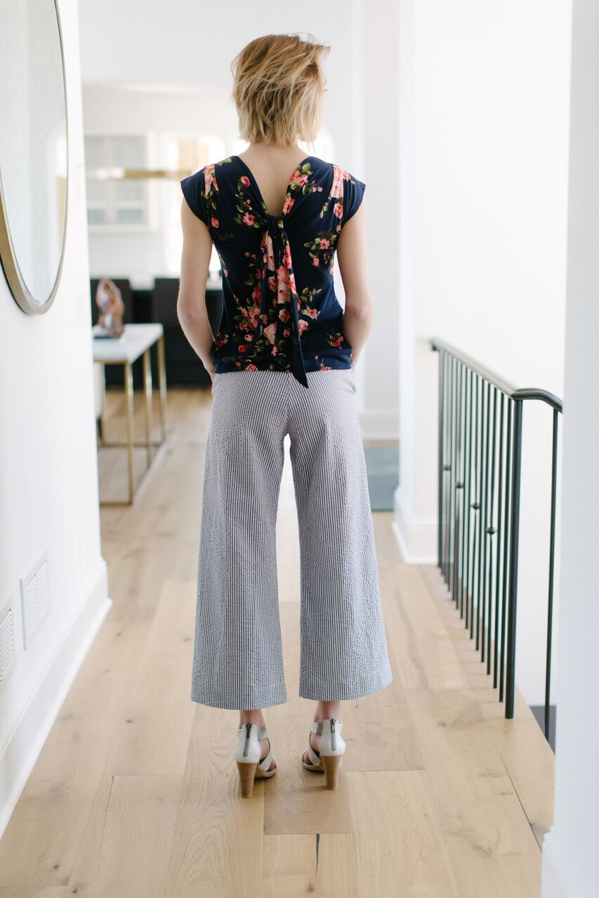 KOKOON Cropped Calhoun Wide Leg Pants Back
