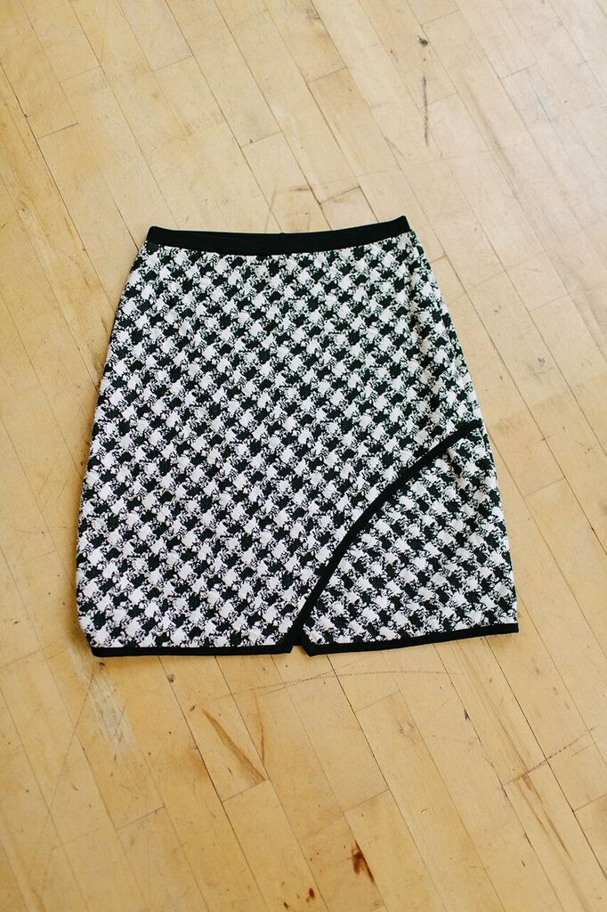 KOKOON Bees Knees Skirt in black and white check 3