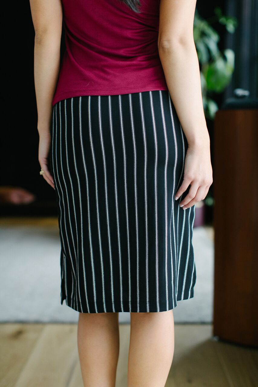 Calhoun Skirt Gangster Stripe Back