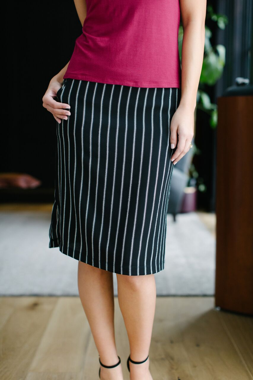 Calhoun Skirt Gangster Stripe Front
