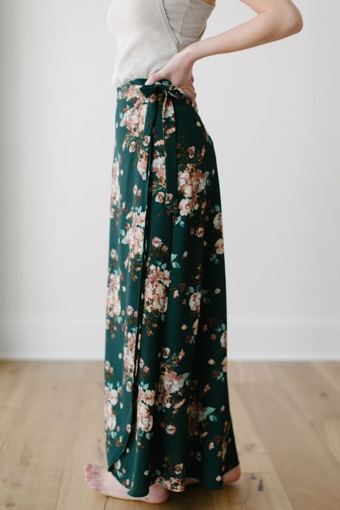 KOKOON Maxi Wrap Skirt Side